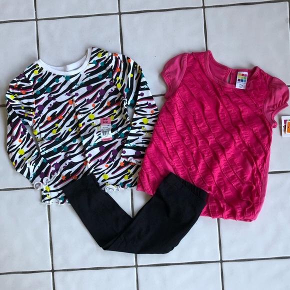 healthtex Other - Lot of 3 NWT Leggings, Zebra Print & Pink Ruffle